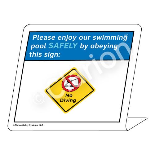Placard/No Diving Sign (WSS1703-35g-e) )
