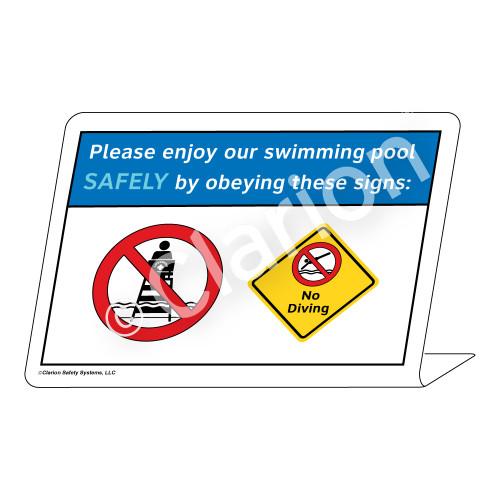 No Lifeguard on Duty/No Diving Sign (WSS1722-36g-e) )