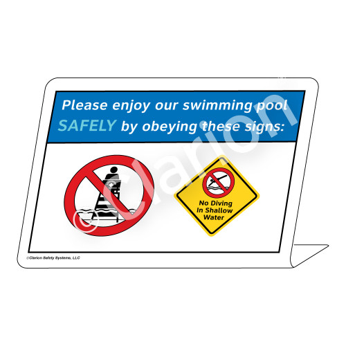 No Diving in Shallow Water Sign (WSS1723-36g-e) )