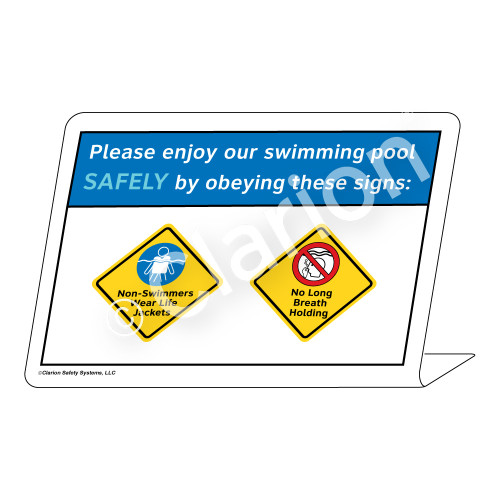 Non-Swimmers/No Long Breath Holding Sign (WSS1734-36g-e) )