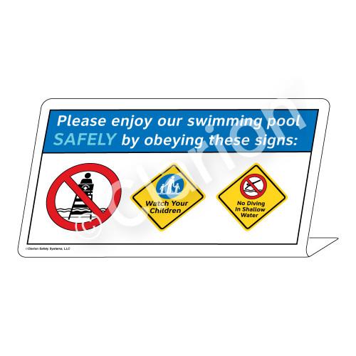 Watch Your Children/No Diving Sign (WSS1742-37g-e) )