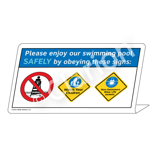 Watch Your Children/Non-Swimmers Wear Sign (WSS1743-37g-e) )