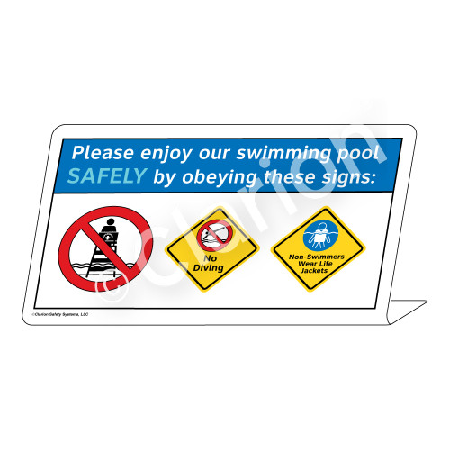 No Diving/Non-Swimmers Wear Life Jackets Sign (WSS1745-37g-e) )