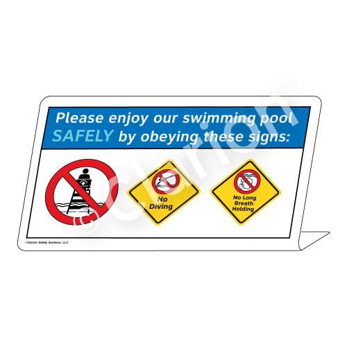 No Diving/No Long Breath Holding Sign (WSS1746-37g-e) )
