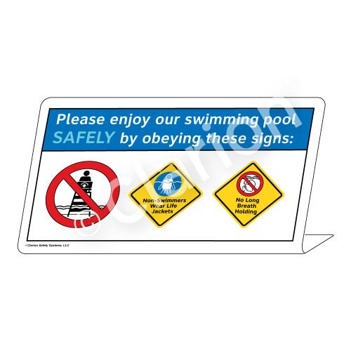 Wear Life Jackets/No Long Breath Holding Sign (WSS1749-37g-e) )
