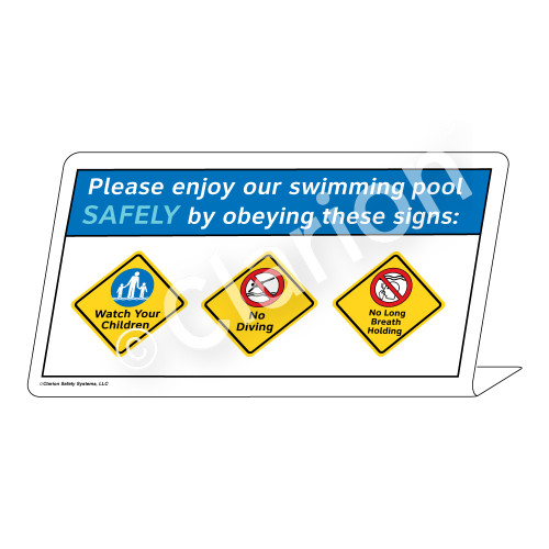 Watch Your Children/No Diving/No Long Breath Sign (WSS1751-37g-e) )