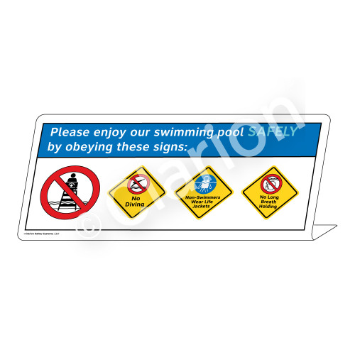 No Diving/Non-Swimmers/No Long Breath HoldingSign (WSS1765-38g-e))