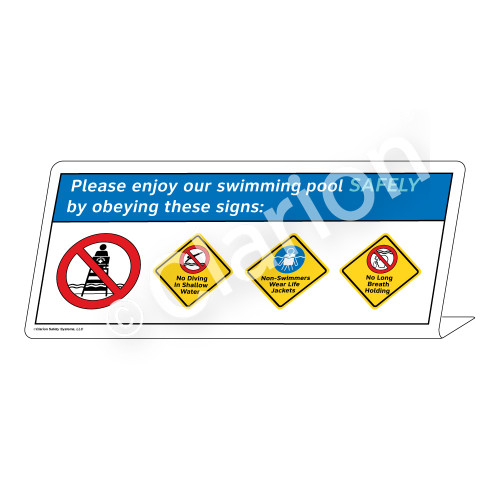 No Diving/Non-Swimmers/No Long Breath HoldingSign (WSS1766-38g-e))