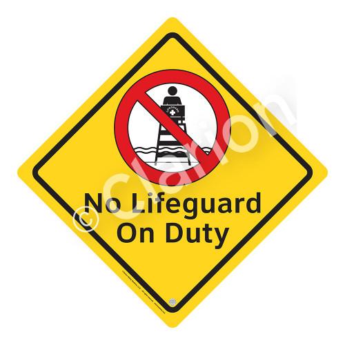 No Lifeguard on Duty Sign (WSS2101-02a-e) )