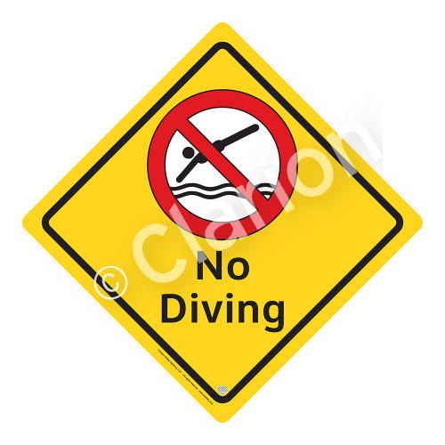 No Diving Sign (WSS2103-02a-e) )