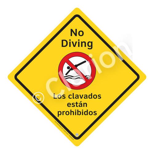 No Diving Sign (WSS2103-02a-esm) )