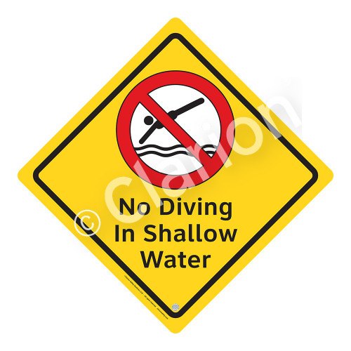 No Diving in Shallow Water Sign (WSS2104-02a-e) )