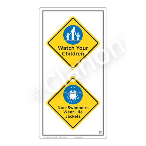 Watch Your Children Sign (WSS2213-50b-e) )
