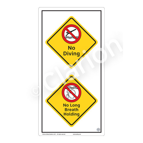 No Diving Sign (WSS2216-50b-e) )