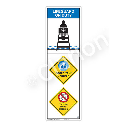 Lifeguard on Duty/Watch Your Children Sign (WSS2313-07b-e) )