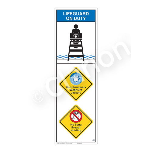 Lifeguard on Duty/Non-Swimmers WearSign (WSS2318-07b-e))