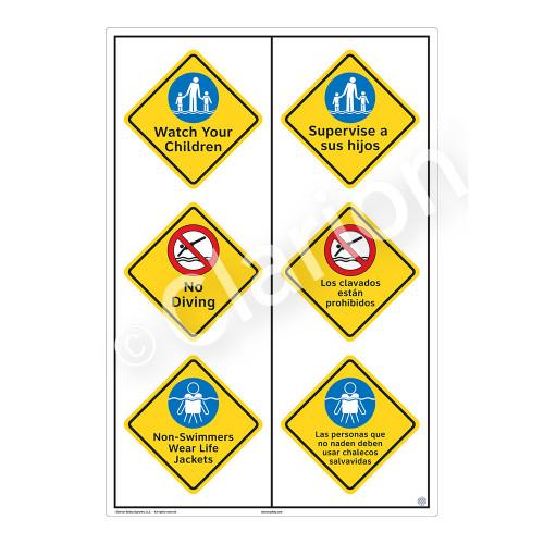 Watch Your Children Sign (WSS2319-55b-esm) )