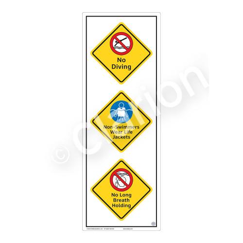 No Diving Sign (WSS2323-54b-e) )