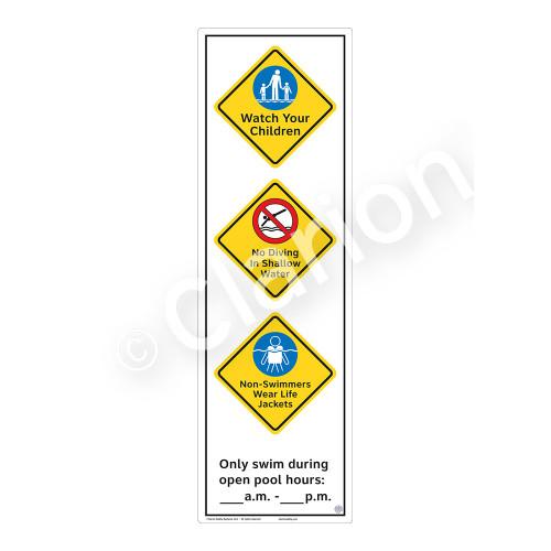 Watch Your Children Sign (WSS2371-56b-e) )