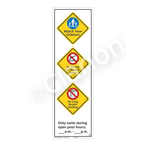 Watch Your Children Sign (WSS2372-56b-e) )