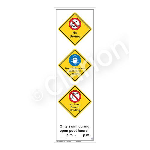 No Diving Sign (WSS2373-56b-e) )