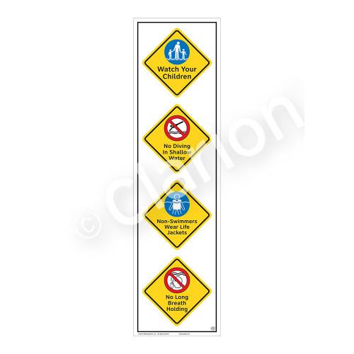 Watch Your Children Sign (WSS2414-58b-e) )