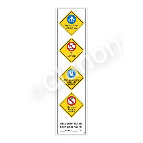 Watch Your Children Sign (WSS2463-60b-e) )