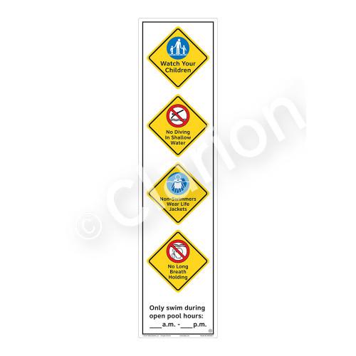 Watch Your Children Sign (WSS2464-60b-e) )