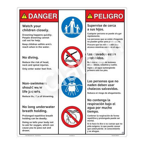 Danger/Watch Your Children Sign (WSS3407-26b-esm) )