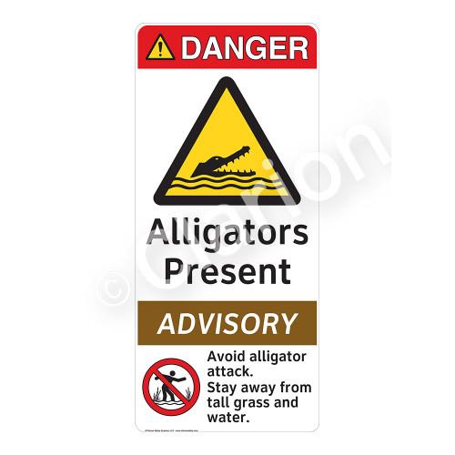 Danger/Alligators Present Sign (WSS4010-1) )