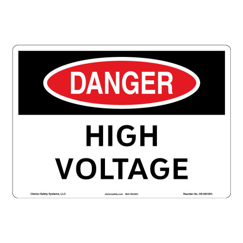 Danger/High Voltage Sign (OS1001DH-)