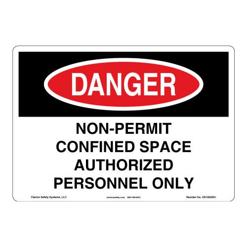 Danger/Non-Permit Sign (OS1002DH-)