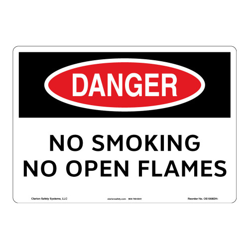 Danger/No Smoking Sign (OS1008DH-)