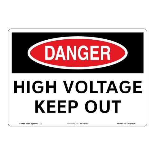 Danger/High Voltage Sign (OS1010DH-)