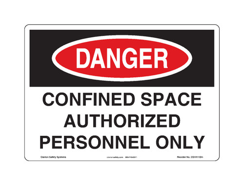 Danger/Confined Space Sign (OS1011DH-)