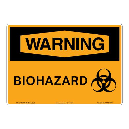 Warning/Biohazard Sign (OS1018WH-)