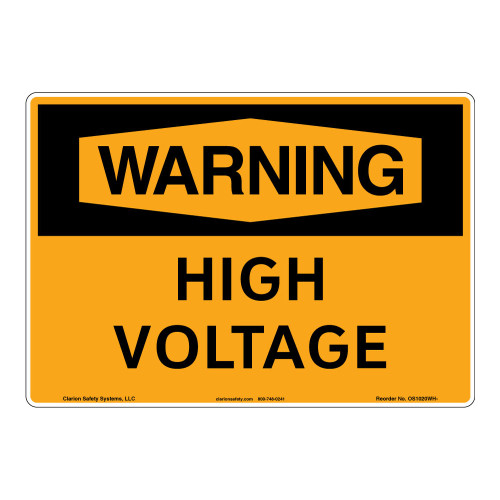 Warning/High Voltage Sign (OS1020WH-)