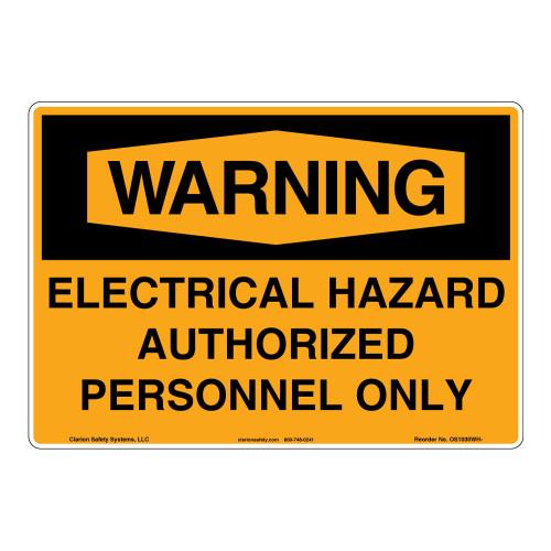 Warning/Electrical Hazard Sign (OS1030WH-)