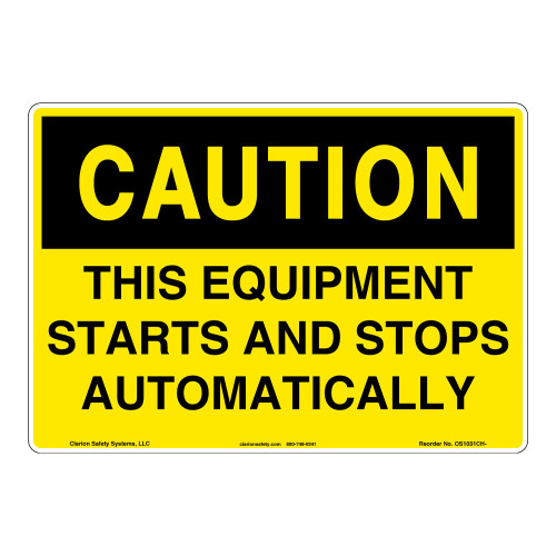 Caution/This Equipment Sign (OS1031CH-)