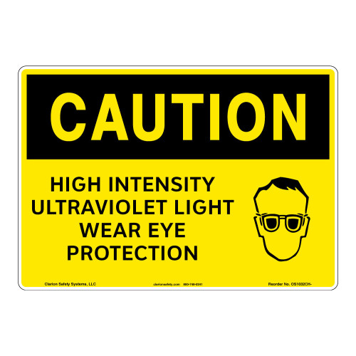 Caution/High Intensity Sign (OS1032CH-)