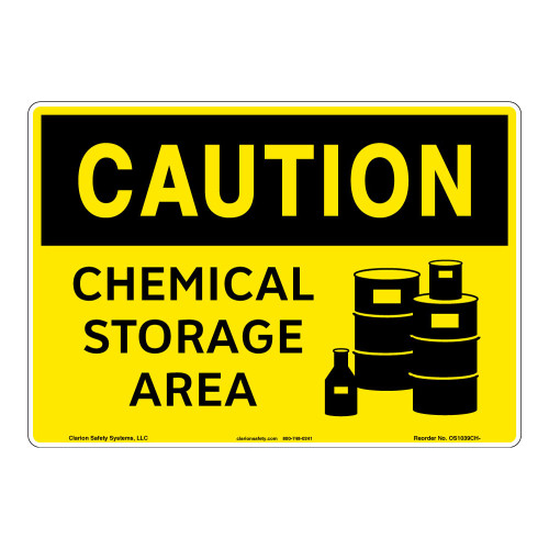 Caution/Chemical Storage Sign (OS1039CH-)