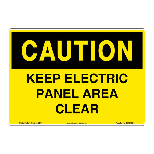 Caution/Keep Electrical Sign (OS1042CH-)