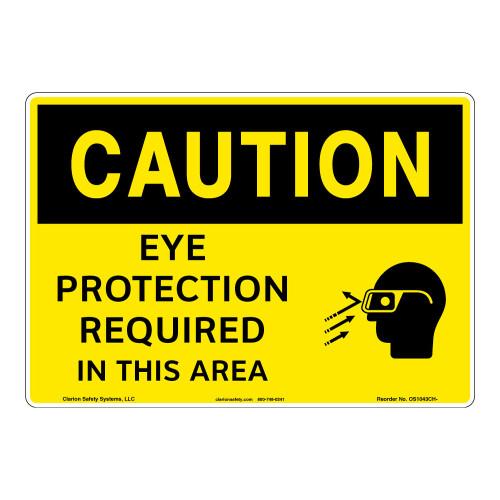 Caution/Eye Protectiom Sign (OS1043CH-)