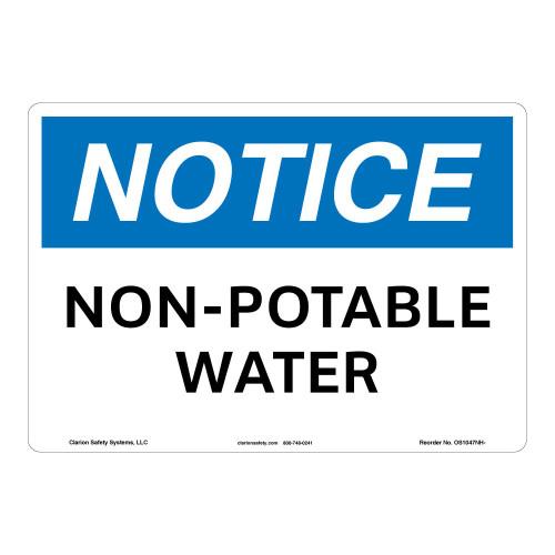 Notice/Non-Potable Water Sign (OS1047NH-)