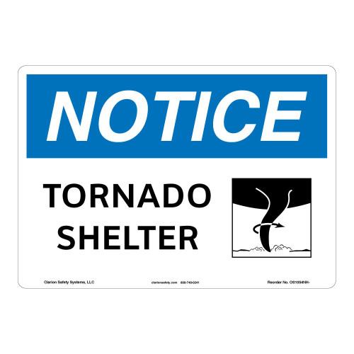 Notice/Tornado Shelter Sign (OS1054NH-)