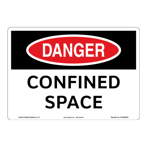 Danger/Confined Space Sign (OS1063DH-)