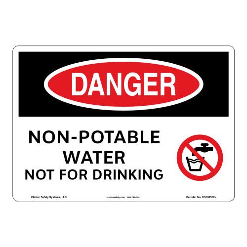 Danger/Non-Potable Water Sign (OS1065DH-)