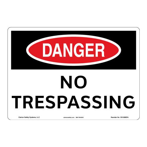 Danger/No Trespassing Sign (OS1068DH-)
