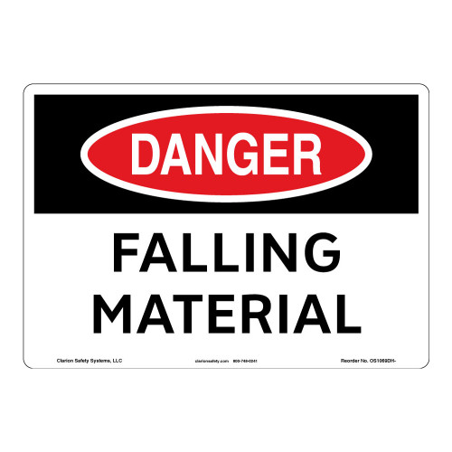 Danger/Falling Material Sign (OS1069DH-)