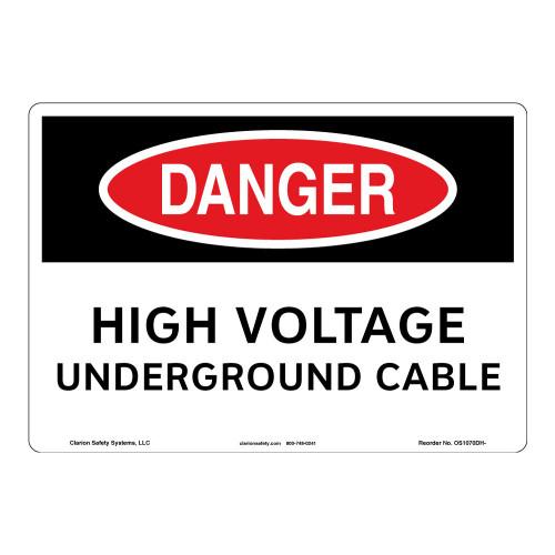Danger/High Voltage Sign (OS1070DH-)